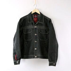 JNCO Jeans Mens Black Denim 90's Punk Jacket